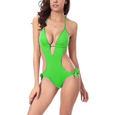 8a59eb0f2a8 Women's Sexy Bikini Set Swimsuit Fashion Bikini -Piece Solid Color Large  Size Hot Spring Swimwear