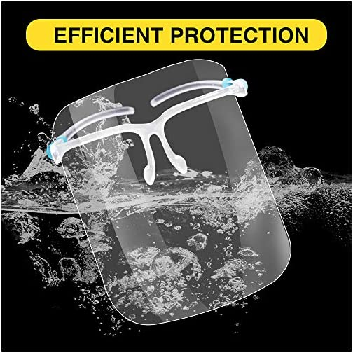 LETOUR 10 Pcs Safety Face Shields with 10 Glasses Frame |