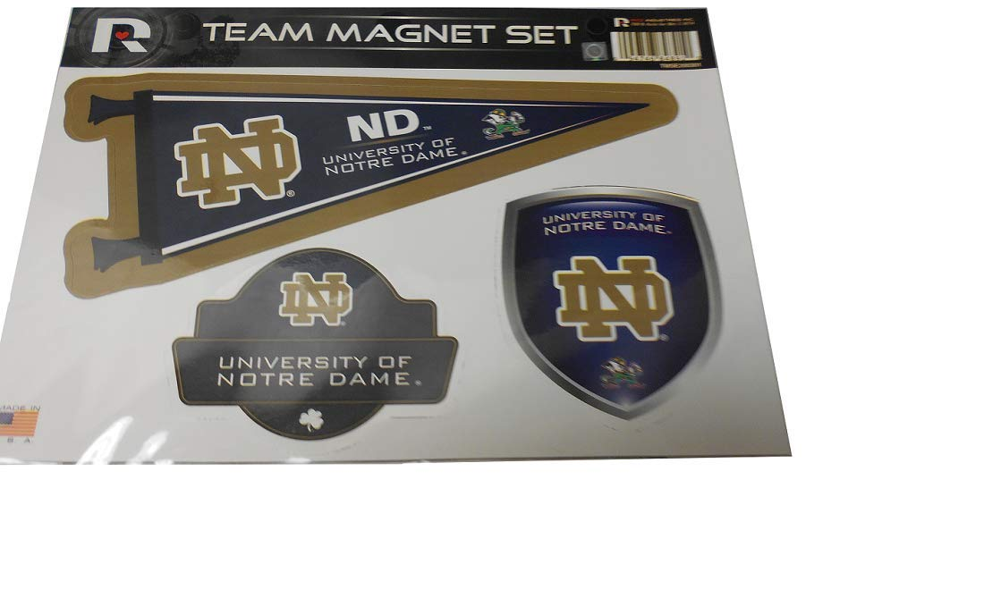 3 Pieces in Set Notre Dame Team Magnet Set NCAA Rico Industries