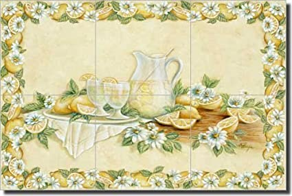 Lemon Fruit Ceramic Tile Mural Backsplash 18