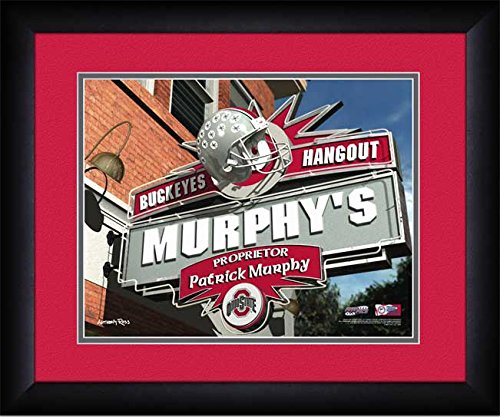 Ohio State Buckeyes - Personalized Hangout Sign - Framed Poster Print
