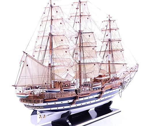 Amerigo Vespucci Model - AA Nautical Collections Italian Training Ship Amerigo Vespucci Model Ship; Wooden Navy Barques Model; Ready for Display; L 35