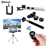 XCSOURCE Selfie Stick with Bluetooth Remote Black