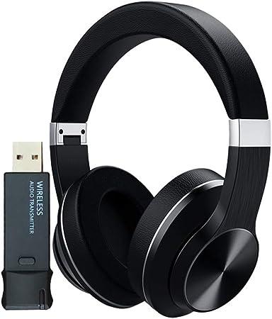 HANYF Auriculares Inalámbricos, Auriculares/Auriculares Bluetooth para PC TV + USB Transmisor PS4 Aptx LL, Alta Fidelidad Estéreo De Auriculares para Juegos (con Micrófono): Amazon.es: Hogar