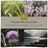 Edinburgh Tea  and  Coffee Company, The Scottish Collection 4-Flavor Variety Pack, 40-Count Tea Sachets