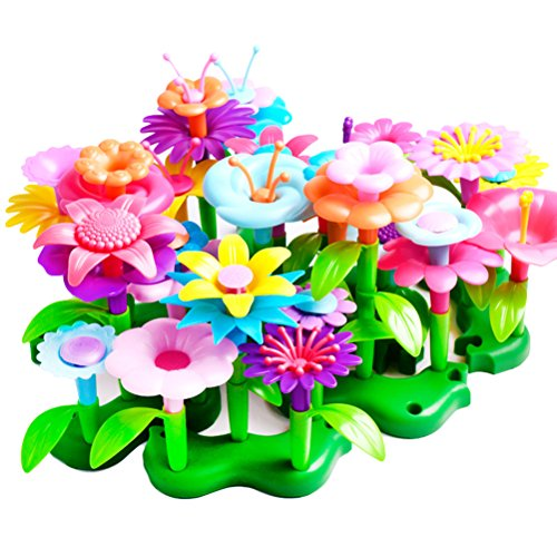 TOYMYTOY Bouquet Floral Arrangement Playset - 46 Parts, Creative Educational Skill Development Flower Toy for (Build A Flower Bouquet)