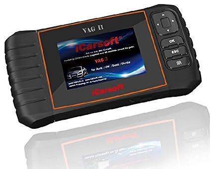 iCarsoft VAG II for Volkswagen VW Audi SEAT Skoda OBD2 Diagnostic Scanner  Tool Erase Fault Codes Oil Reset DPF EPB