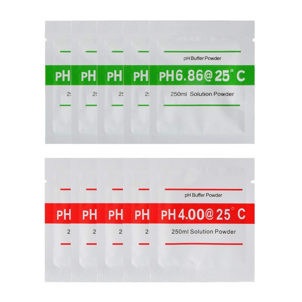 Testeurs de sol 9pcs pH Buffer Solution Powder for PH Test Meter