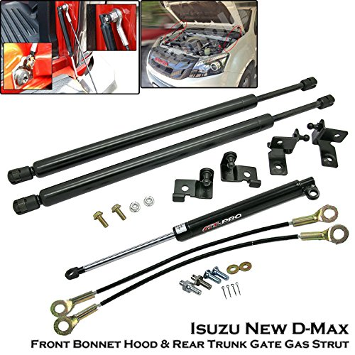 Front Bonnet & Rear Trunk Gas Shock Strut Damper Lift Supports Fit Isuzu D-Max Dmax 2012++