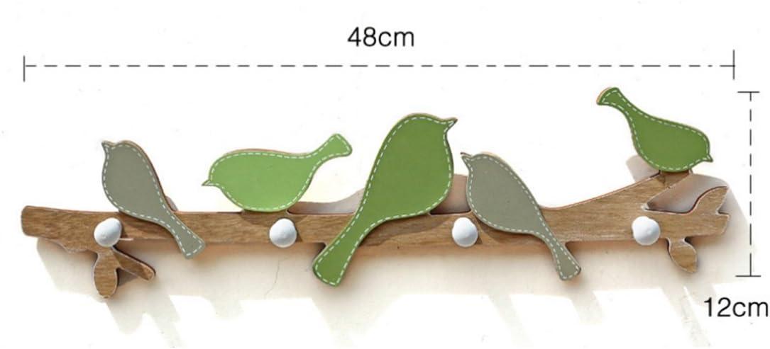 Teckpeak Appendiabiti Bambini da Muro con 4 ganci Appendiabiti Bambini Parete Legno