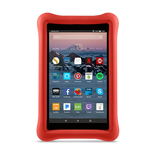 Large Product Image of Amazon Kid-Proof Case for Amazon Fire HD 8 Tablet (7th Generation, 2017 Release), Punch Red