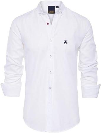 ALTONADOCK - Camisa Blanca Casual para Hombre (L): Amazon.es: Ropa y accesorios