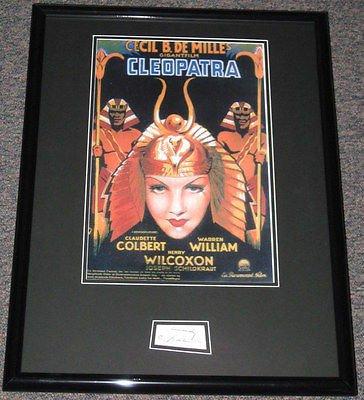 Cecil B DeMille Signed Framed Cleopatra 18x24 Poster Display JSA