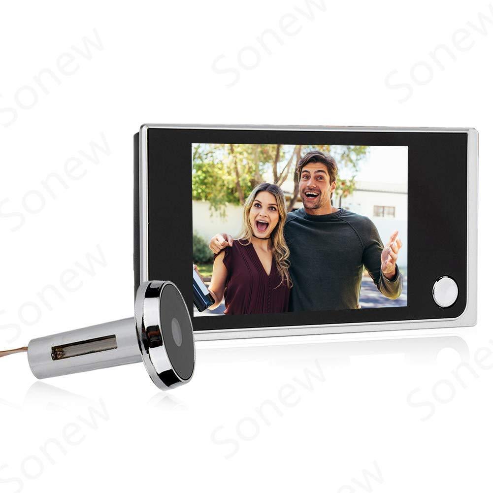 Home Video Door Eye Viewer Security Camera Visual Door Electronic Cat Eyes 3.5'' Digital LCD 120 Degree Peephole Viewer Photo Visual Monitoring