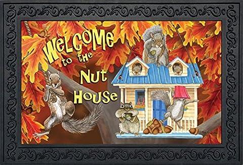 Welcome to the Nuthouse Fall Doormat Squirrels Humor Indoor Outdoor 18