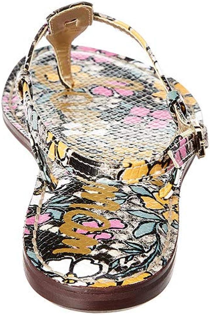 Sam Edelman A4940sf939, Salomés Femme Imitation Peau de Serpent Motif Rétro Bright Multi Retro Floral Print Snake