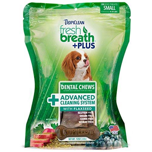 Tropiclean 20 Count Advanced Cleaning Dental Chews for Small (Fresh Breath Dental Bone)