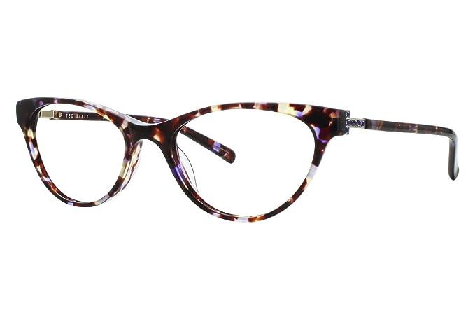Amazon.com: Ted Baker B719 Womens Eyeglass Frames - Purple Tortoise ...