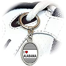 Graphics and More I Love Heart Alabama Shoe Sneaker Shoelace Oval Charm Decoration