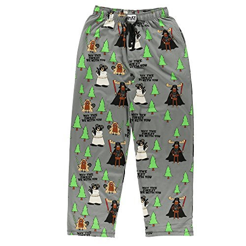 May The Forest Be with You Men's Pajama Pants Bottom by LazyOne | Pajama Bottom for Men (Large)