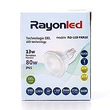 PAR 30 13W LED Bulb 80W Equivalent Dimmable 3000K/5000K Warm White 980lm Indoor/Outdoor 38°Flood (5000K)