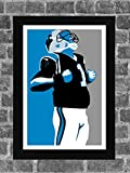 Carolina Panthers Cam Newton Portrait Sports Print Art 11x17