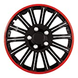 "Pilot Automotive WH527-15RE-BX Cobra Black Chrome 15"" Wheel Cover with Red Accent, (Set of 4)"