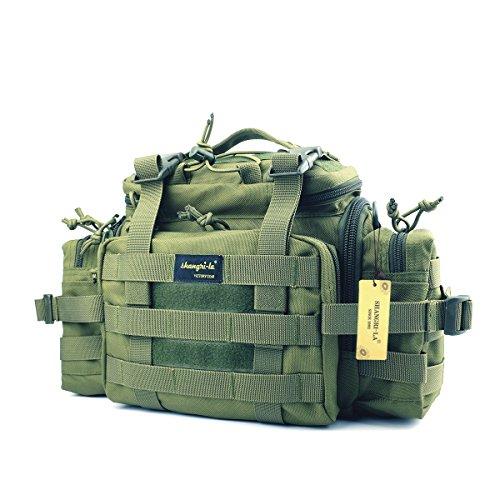 SHANGRI-LA Tactical Assault Gear Sling Pack Range Bag Hiking Fanny Pack Waist Bag Shoulder Backpack EDC Camera Bag MOLLE Modular Deployment Compact Utility Carry Bag Heavy Duty with Shoulder Strap Deployment Pack