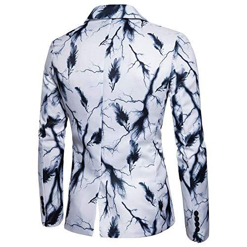 Fit Slim Christmas Tinta Tuxedo Business Bolawoo 56 Leisure Marca Giacca Da Unita 48 Moda Bianca Alla Di Blazer Uomo Mode Festive ax4Xq14w0