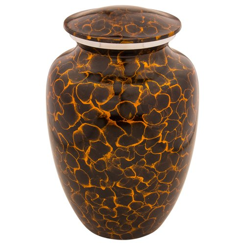 (Silverlight Urns Tiger Eye Cremation Urn XL, Aluminum Urn Extra Large Size, 12 Inches High)
