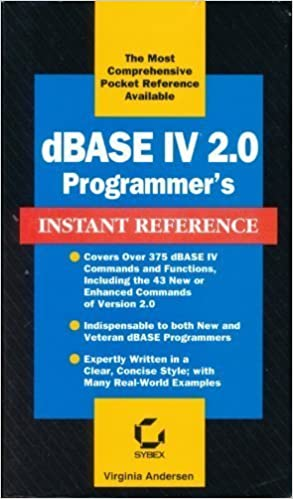 dBase IV 2 0 Programmer's Instant Reference (Sybex Instant Reference