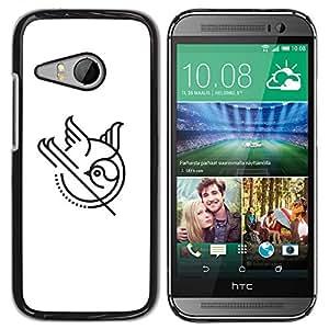 YOYOYO ( NO PARA HTC ONE M8 ) Smartphone Protección Defender Duro Negro Funda Imagen Diseño Carcasa Tapa Case Skin Cover Para HTC ONE MINI 2 M8 MINI - un pájaro que juega como una pelota