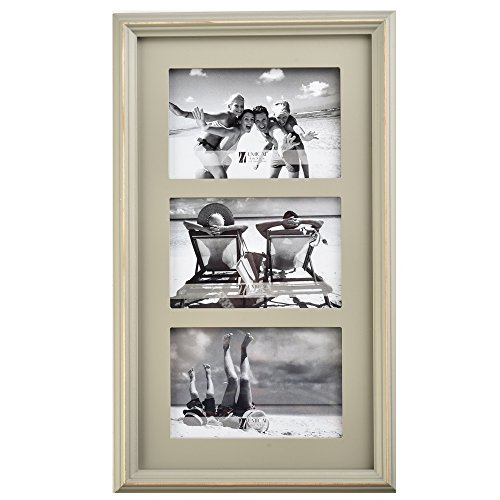 UMICAL(TM) Wood Three Picture Frames Photo Frame 4×6 Inch- Made to Display 9×15 Inch , Perfect Gift for Family & Best Friends