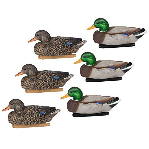 Flextone Life Size Mallard Floater Decoys, 6 Pack
