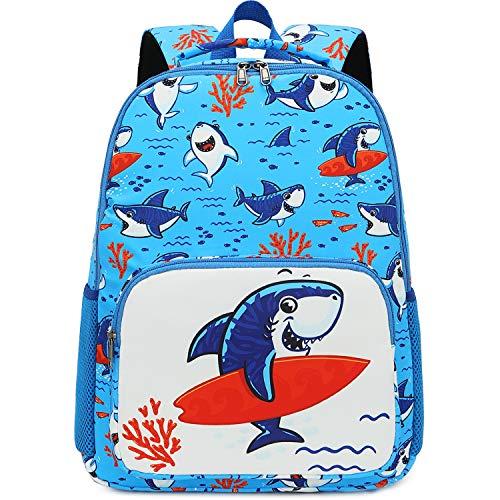 Preschool Backpack for Kids Boys Toddler Backpack Kindergarten School Bookbags (Shark-Blue)
