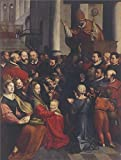 The High Quality Polyster Canvas Of Oil Painting 'Saint Eligius Preaches In Antwerp By Ambrosius Francken I' ,size: 20x26 Inch / 51x67 Cm ,this Cheap But High Quality Art Decorative Art Decorative Canvas Prints Is Fit For Study Decor And Home Artwork And Gifts