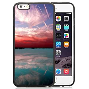 NEW Unique Custom Designed iPhone 6 Plus 5.5 Inch Phone Case With Red Sky Lake Sunset_Black Phone Case