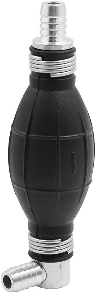 sourcing map Bomba De Vac/ío De Aceite Gasolina De Caucho Negro 8mm Cebador Manual Bombilla Para Coche