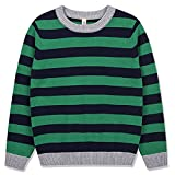 #2: Benito & Benita Boy's Pullover Sweater Crew Neck Cotton Sweater Casual Style with Stripes for Boys/Girls 3-12Y
