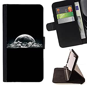 DEVIL CASE - FOR LG OPTIMUS L90 - Earth View Planet Moon Night Sky Tree - Style PU Leather Case Wallet Flip Stand Flap Closure Cover