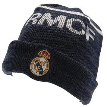 Gorro Real Madrid azul adulto  Amazon.es  Deportes y aire libre a2be244080d