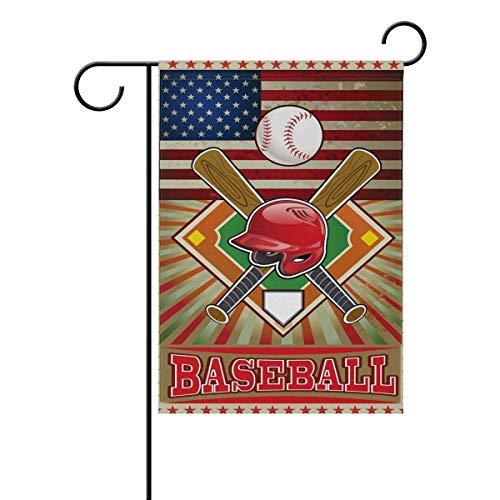 Raininc's Vintage American Flag Sport Baseball Garden Flag 1
