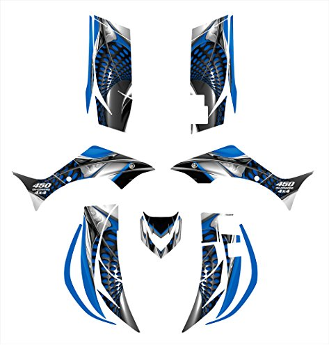 Yamaha Wolverine 450 2006-2008 Graphics Decal Kit by Allmotorgraphics NO7777 blue
