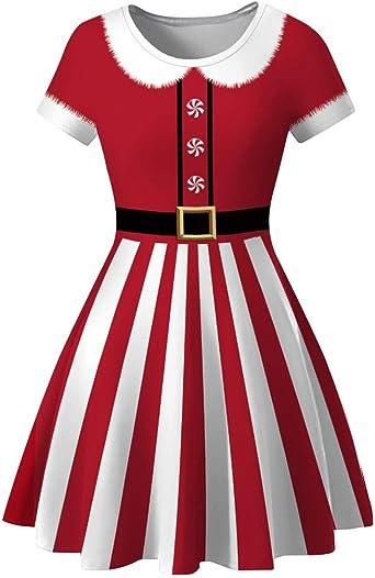 Weihnachten Damska 1950Er Print Vintage Kostüm Elegant Festliche Swing Partykleid Spitzenkleid Cocktailkleid: Odzież