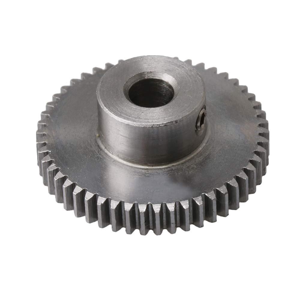 CNBTR. 0,5 Module 50 dents en acier pour pignon Little Mecha Argenté pour projet de bricolage