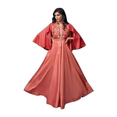 Amazon.com: Peach Indian Bollywood 8027 - Vestido de noche ...