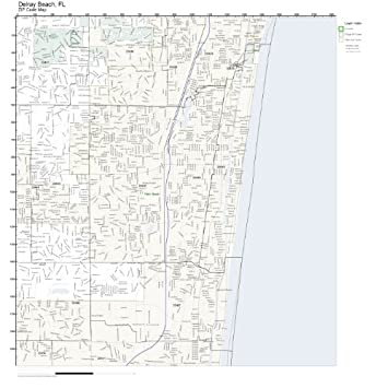 Map Of Delray Beach Florida.Amazon Com Zip Code Wall Map Of Delray Beach Fl Zip Code Map Not