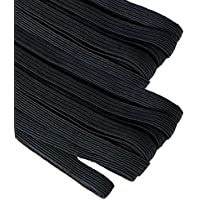 Goma elástica para costura de 4 mm. negra, banda elástica 10 metros.