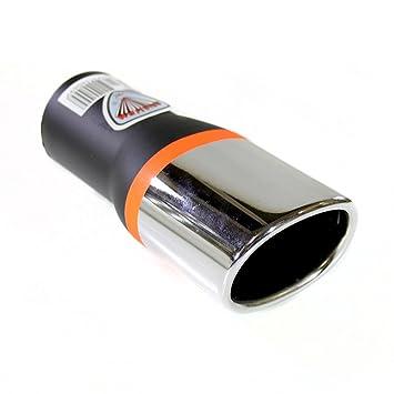Autohobby 367 - Embellecedor de tubo de escape, universal, acero inoxidable hasta 48 mm de diámetro, cromado: Amazon.es: Coche y moto