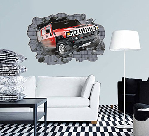 3D grande todo terreno Hummer Coches pegatinas decorativas ...